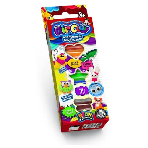 Купить Пластилин Danko Toys Air Clay 7 цветов (ARCL-01-02), Пластилин и масса для лепки