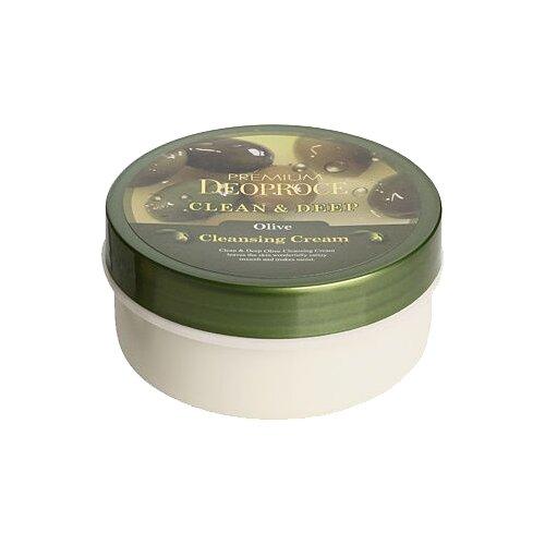 Deoproce крем очищающий для лица Premium с экстрактом оливы, 300 г себолосьон очищающий premium цена