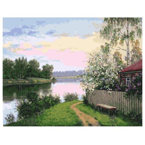 Купить ВанГогВоМне Картина по номерам Дача у реки , 40х50 см (ZX 10085), Картины по номерам и контурам