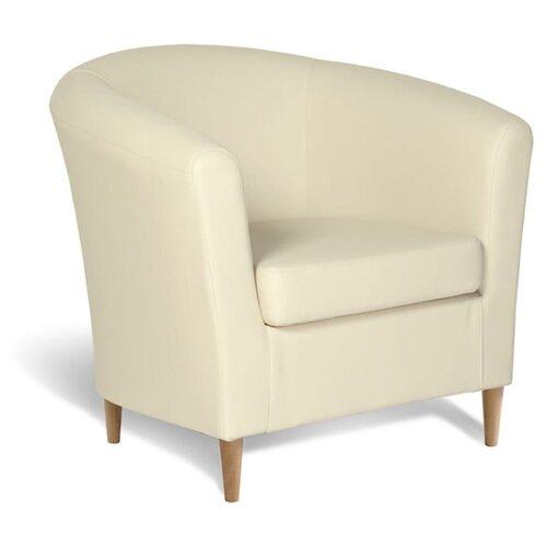 Классическое кресло Шарм-Дизайн Евро Лайт размер: 80х79 см, обивка: искусственная кожа, цвет: бежевый