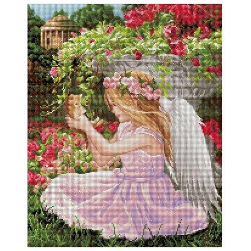 Алмазная живопись Набор алмазной вышивки Ангел в саду (АЖ-1781) 40х50 см