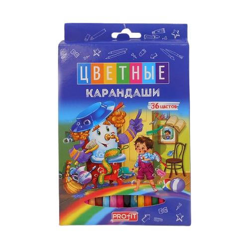 PROFIT Набор цветных карандашей Волшебная история 36 цветов (КЦ-2968).