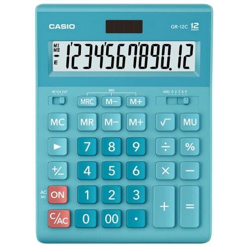 Калькулятор бухгалтерский CASIO GR-12С голубой