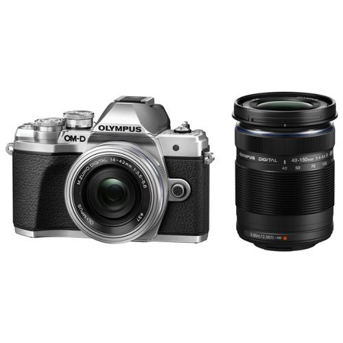 Фото - Фотоаппарат Olympus OM-D E-M10 Mark III Kit серебристый M.Zuiko Digital ED 14‑42mm F3.5‑5.6 EZ Pancake + M.Zuiko Digital ED 40‑150mm F4‑5.6 R сумка фотоаппарат 40 32см текстиль ск2019 4