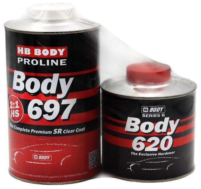 Комплект (автомобильный лак, отвердитель для лака) HB BODY 697 Clear HS SR 2:1 + 620