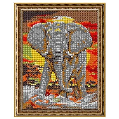 Светлица Набор для вышивания бисером Слон 24 х 30 см, бисер Чехия (498П)