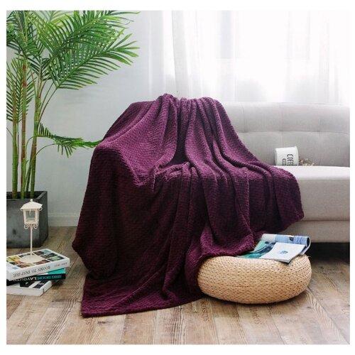 Плед Cleo Royal plush 180х200 см, фиолетовый плед cleo бамбук арт 025 pb 180х200 см