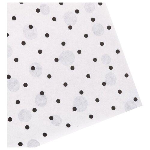 Бумага упаковочная Дарите счастье Happy 0,68 х 10 м белый/черный