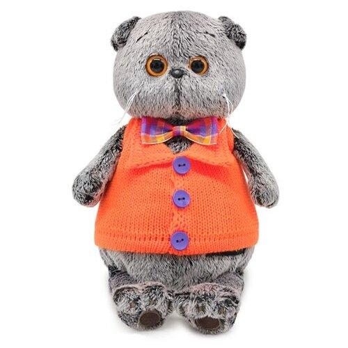 Купить Мягкая игрушка Basik&Co Кот Басик в вязаном жилете 22 см, Мягкие игрушки