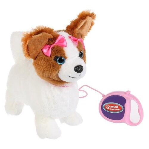 Фото - Интерактивная мягкая игрушка Мой питомец Щенок Джулия, белый/коричневый интерактивная мягкая игрушка mioshi active весёлый щенок mac0601 006 белый