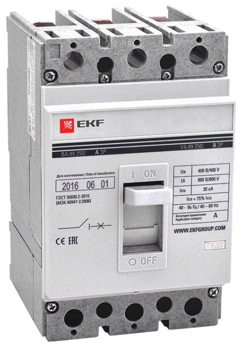 Автоматический выключатель EKF ВА-99/250 3P (термомагнитный) 35kA