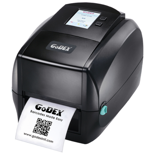 Фото - Godex RT863i, устройство термо-трансферной печати этикеток, 600 dpi, ЖК дисплей, и/ф RS232/USB/Ethernet/USB HOST (011-863007-000) godex rt863i