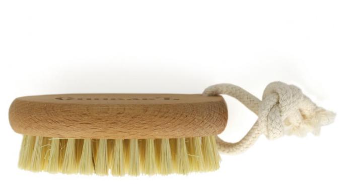 Щетка СпивакЪ для сухого массажа с щетиной из кактуса