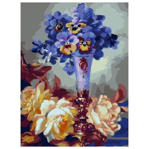 картина по номерам color kit натюрморт с подсолнухами 30x40 см Картина по номерам Color KIT Летние цветы, 30x40 см