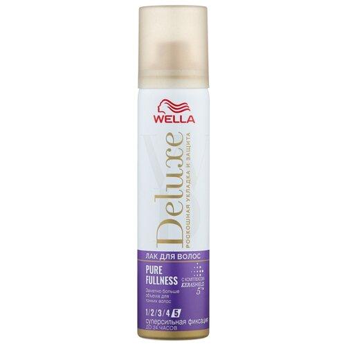Wella Лак для волос Deluxe Pure fullness, экстрасильная фиксация, 75 мл wella deluxe мусс для волос 24 wonder volume 75 мл