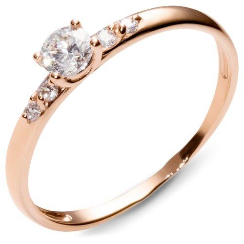 Эстет Кольцо с 5 фианитами из красного золота 01К115424, размер 16 эстет кольцо с 5 фианитами из красного золота 01к115186 размер 16
