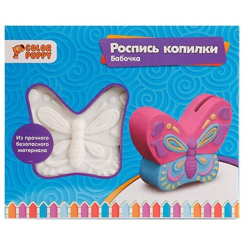 Купить Color Puppy Набор для росписи копилки Бабочка (95413), Роспись предметов