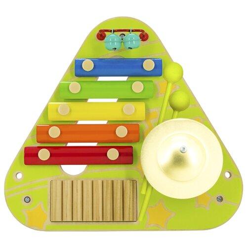 Бизиборд Lucy & Leo Музыкальный зеленый/желтый/голубой/оранжевый/красный