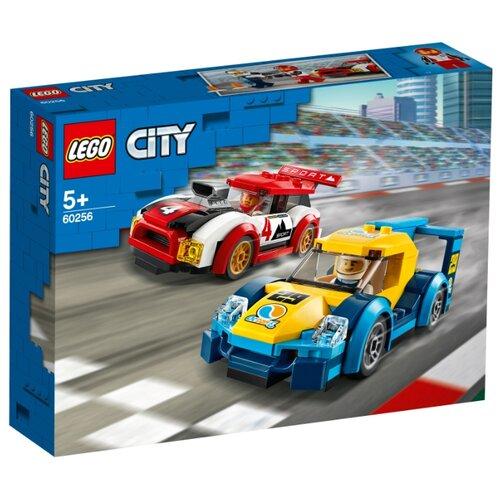 Конструктор LEGO City 60256 Гоночные автомобили конструктор city lego lego mp002xb00c9t