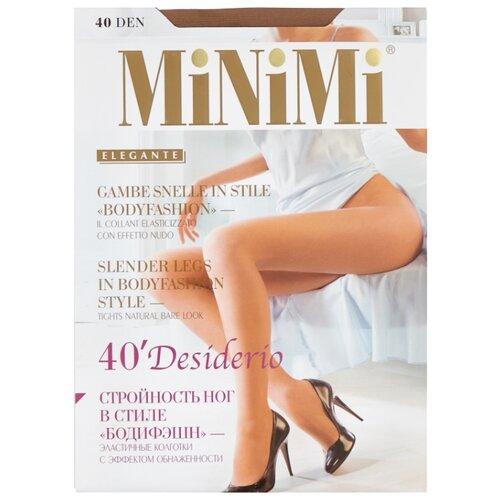 Колготки MiNiMi Desiderio (Nudo) 40 den, размер 3-M, daino (бежевый) колготки minimi desiderio nudo 20 den размер 4 l daino бежевый