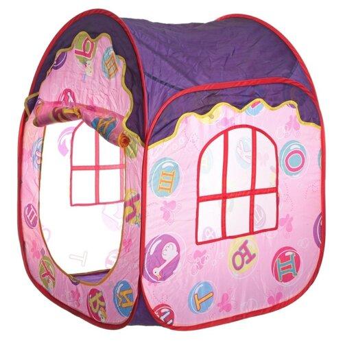 Купить Палатка Zhorya Домик алфавит ZYK-008A-24 розовый/фиолетовый, Игровые домики и палатки