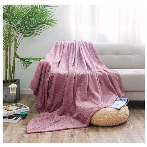 Плед Cleo Royal plush, 150 х 200 см, темно-розовый плед estro vaniglia 220 х 200 см