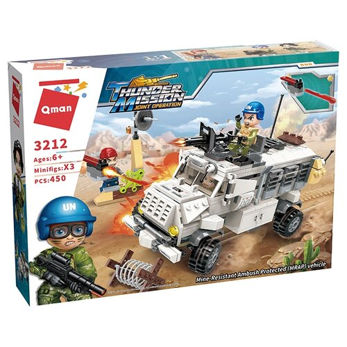Конструктор Qman Thunder Mission 3212 Бронированный автомобиль, Конструкторы  - купить со скидкой