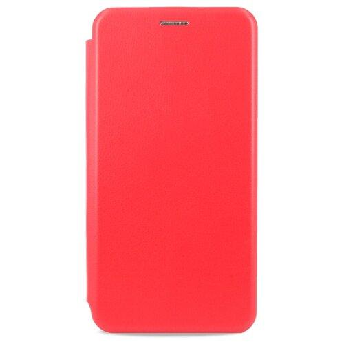 Кожаный чехол для Xiaomi Redmi 8 / Чехол Книжка на Сяоми Редми 8 с кармашком для карт (Красный)