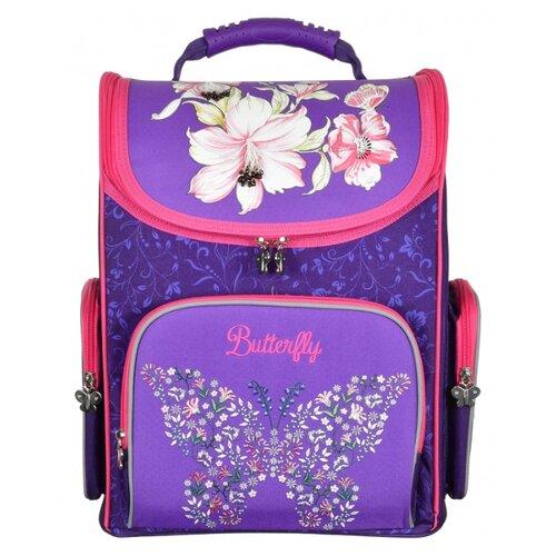 Купить Silwerhof Ранец Butterfly с сумкой для обуви (1088895+471550), розовый/синий, Рюкзаки, ранцы