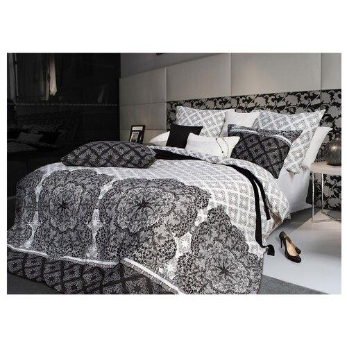 Постельное белье 1.5-спальное Sova & Javoronok Кружево сновидений 50х70 см, сатин черный/белый