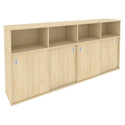 Шкаф офисный Riva Б.ШК-4 233.2x41x109.8 см акация лорка