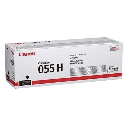 Фото - Картридж лазерный CANON (055HBK) для LBP663/664/MF742/744/746, черный, оригинальный, ресурс 7600 страниц, 3020C002 картридж лазерный canon 055hm для lbp663 664 mf742 744 746 пурпурный оригинальный ресурс 5900 страниц 3018c002