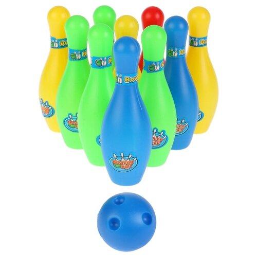Купить Набор для игры в боулинг Shantou City Daxiang Plastic Toys (B1594296) красный/синий/зеленый/желтый, Спортивные игры и игрушки
