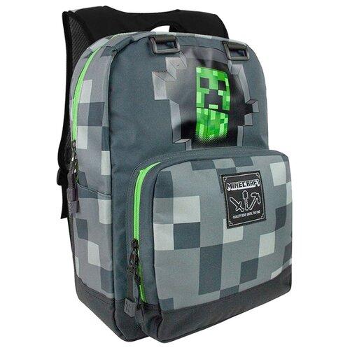 Jinx Рюкзак Minecraft Creepy Creeper темно-серыйРюкзаки, ранцы<br>