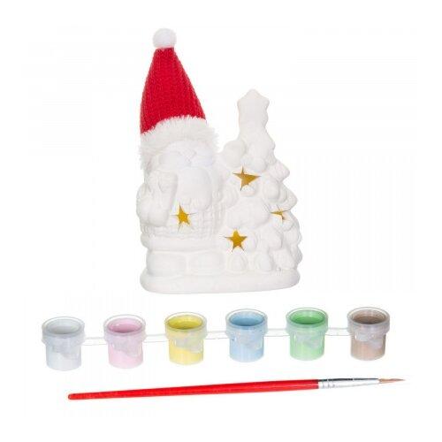 Купить BONDIBON Набор для творчества Новогодние украшения сувенир Дед Мороз с подсветкой LED (ВВ1597), Роспись предметов