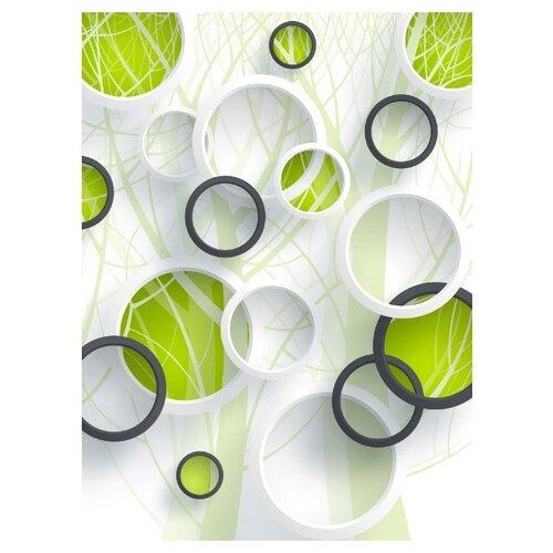 Фотообои флизелиновые Design Studio 3D Объемные зеленые круги 2х2.7м Объемные зеленые круги недорого
