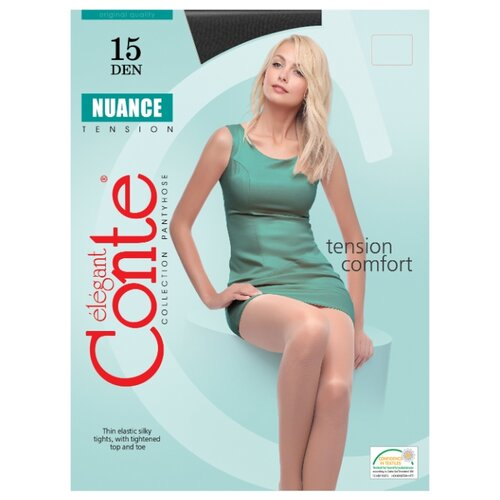 Фото - Колготки Conte Elegant Nuance 15 den, размер 5, nero (черный) колготки conte elegant active soft 20 den размер 5 nero черный