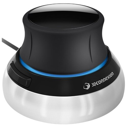 Мышь 3Dconnexion SpaceMouse Compact черно-серебристый.