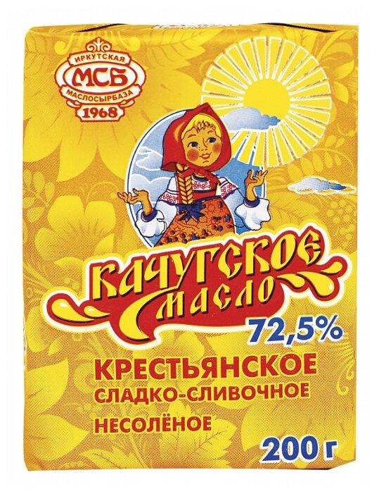 Качугское масло Масло сливочное Крестьянское 72.5%, 200 г