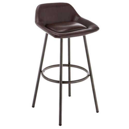 Стул Woodville Bosito vintage, металл/искусственная кожа, цвет: vintage brown/gun metal стул woodville kosta металл искусственная кожа цвет white black