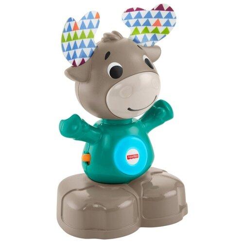 Купить Интерактивная развивающая игрушка Fisher-Price Музыкальный лось (GJB21) серый/голубой, Развивающие игрушки