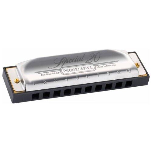 цена на Губная гармошка Hohner Special 20 560/20 C, серый / черный