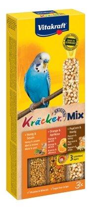 Лакомство для птиц Vitakraft Big Pack для волнистых попугаев Мёд, кукуруза и апельсин