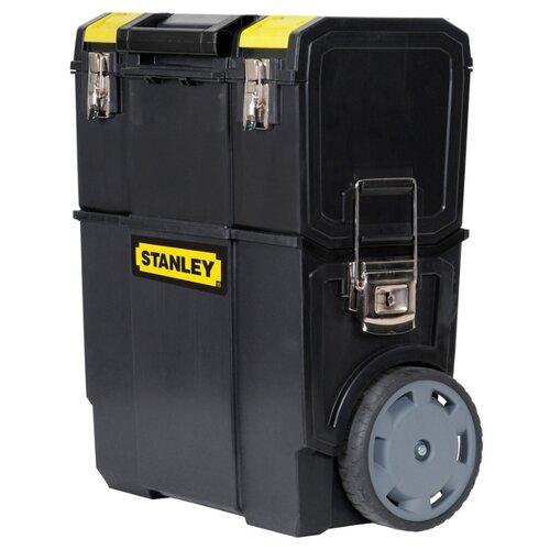 Ящик-тележка STANLEY Mobile Work Center 2 в 1 1-70-327 57x47.5x28.4 см черный ящик тележка stanley 1 94 210 fatmax mobile work station cantilever 52x38x73 см черный