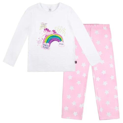 Купить Пижама Bossa Nova размер 98-104, белый/розовый, Домашняя одежда