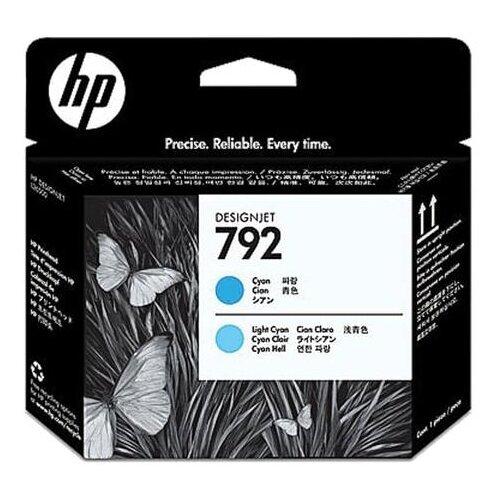 Головка печатающая для плоттера HP (CN703A) DesignJet L26500, №792, светло-голубая и голубая, оригинальный