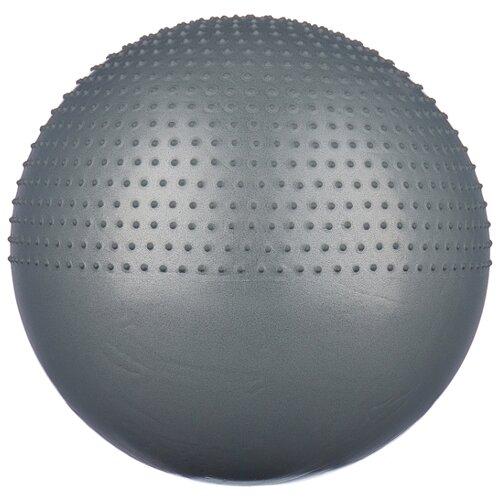 Фитбол Indigo IN003, 65 см серый металлик