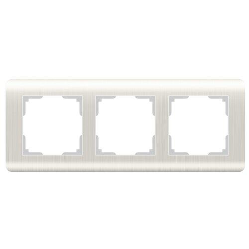 цена Рамка 3п Werkel WL12-Frame-03, перламутровый онлайн в 2017 году