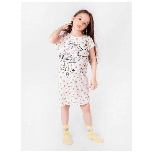 Купить Сорочка RICH LINE размер 128, пудра, Домашняя одежда