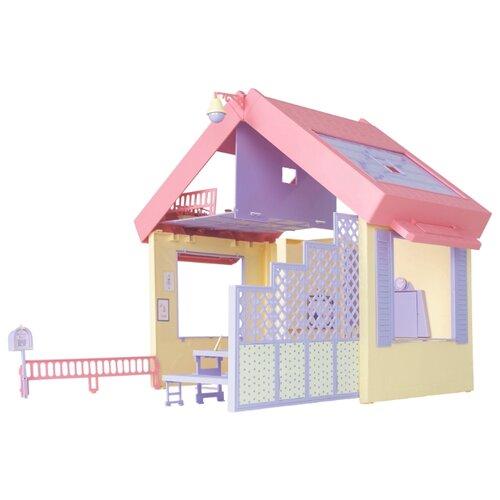 Купить ОГОНЁК кукольный домик Маленькая принцесса (складной), С-1458, розовый/желтый, Кукольные домики